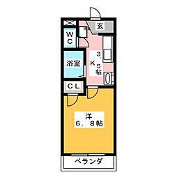 マイキャッスル2[3階]の間取り