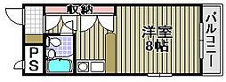 ユウパレス泉佐野・中町[302号室]の間取り