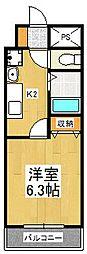 アクロス京都西大路[9階]の間取り