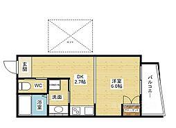 RIHITO新大阪WEST[2階]の間取り