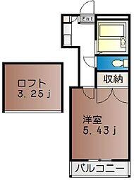 サンライズ西崎[2階]の間取り