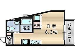 フレアコート新大阪 10階ワンルームの間取り