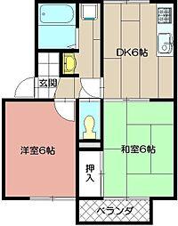 セジュ−ルサツキ[2階]の間取り