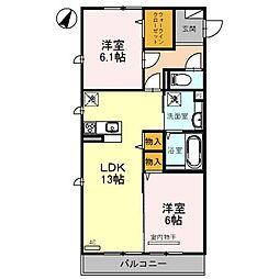埼玉県さいたま市見沼区春岡2の賃貸アパートの間取り