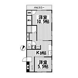 サクラ東山マンション[1階]の間取り