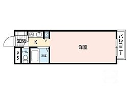 ラ・カーサ・エフ[4階]の間取り