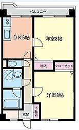 鷺沼タバタマンション[3階]の間取り