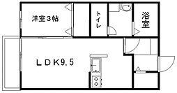 コンフォール松山[101号室]の間取り