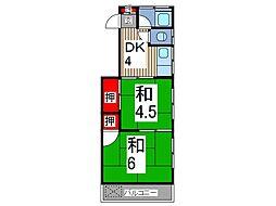 小宮ハイツ[2階]の間取り