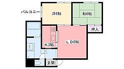 広田マンション[202号室]の間取り