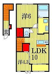 Arrietty 2階2LDKの間取り