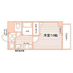 エクシート八幡[1階]の間取り