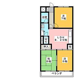 Kyoei Bld[1階]の間取り