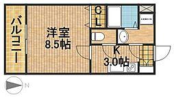 静岡県浜松市中区山手町の賃貸マンションの間取り