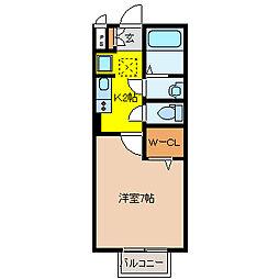 パークサイド渋川A棟[1階]の間取り