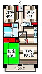 マ・メゾン寿[4階]の間取り