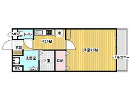 田井戸ハウス[2階]の間取り