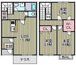 [タウンハウス] 大阪府岸和田市南上町 の賃貸【/】の間取り