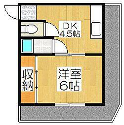 長谷川ビル[2B号室]の間取り