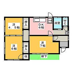[一戸建] 静岡県富士宮市大中里 の賃貸【静岡県 / 富士宮市】の間取り