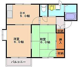 ラフォーレ松の木[1階]の間取り