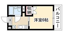 愛知県名古屋市天白区植田西2丁目の賃貸マンションの間取り