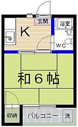 マイル−ム参道A[105号室]の間取り