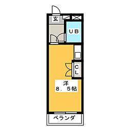 PLEAST大橋IV[4階]の間取り