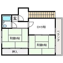 佐野マンション[1階]の間取り