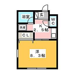 チェリー鶴里[1階]の間取り