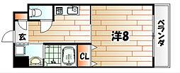 シンフォニー祇園[7階]の間取り