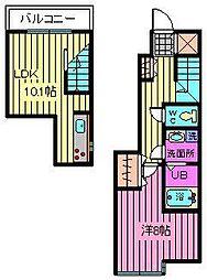 ラ カーサ ピカケ[2階]の間取り