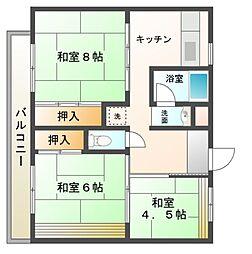 ビレッジハウス[2階]の間取り