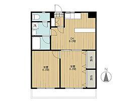 ガーデンコート新栄[8階]の間取り