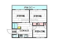 リバーサイドマンションレオ[1階]の間取り