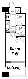 レジディア島津山[205号室]の間取り