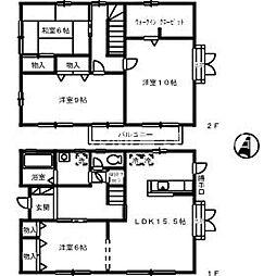 [一戸建] 岡山県倉敷市広江8丁目 の賃貸【/】の間取り