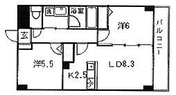ハーベストヒルズ溝の口I[3階]の間取り