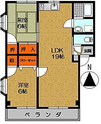 エスタシオン鍋島[201号室]の間取り