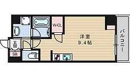 エスパシオ・コモド大阪新町[402号室]の間取り