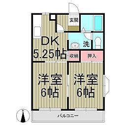 ヴィラージュ鎌倉B[2階]の間取り