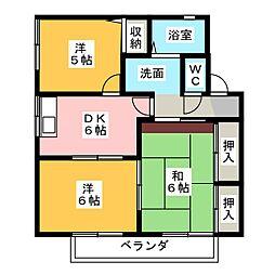 アメニティー563B棟[1階]の間取り