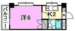 コーポ岡崎[205 号室号室]の間取り