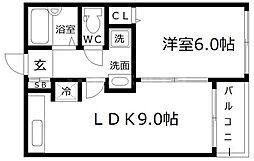 フラッツ江戸堀[2階]の間取り