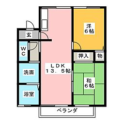 竹里館[1階]の間取り
