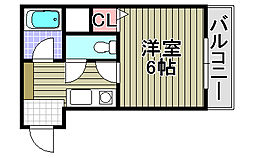 プレステージフジ久米田壱番館[203号室]の間取り