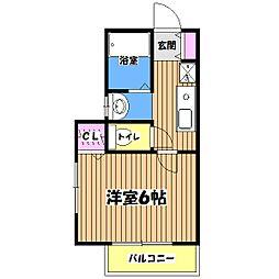 東京都杉並区高井戸西2丁目の賃貸アパートの間取り