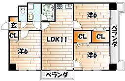 第5晴和ビル[301号室]の間取り