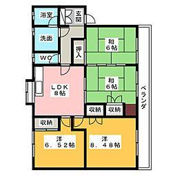 第2シャトーナツヤマ[3階]の間取り