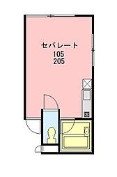 エール8[103号室]の間取り